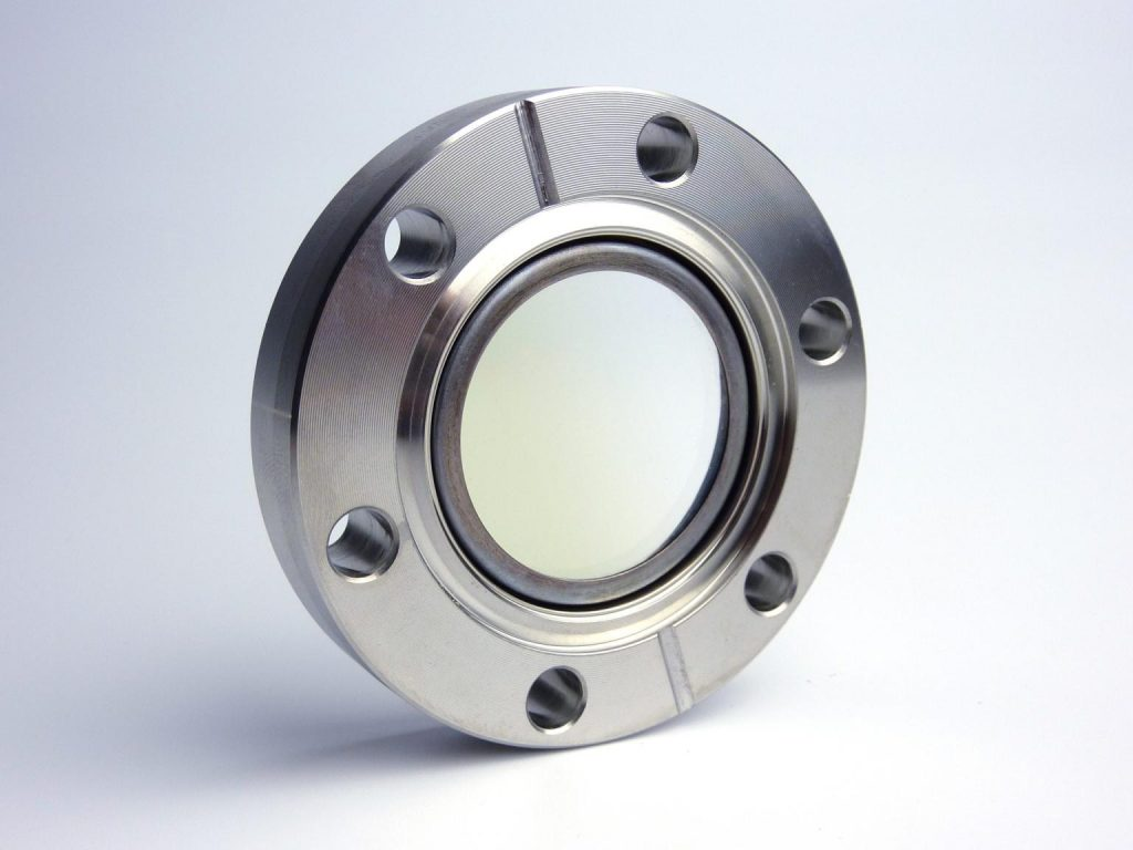 Indium tin oxide (ITO) coated viewport